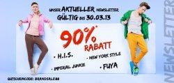 90% Rabatt auf H.I.S , Fuya und Marvel bis 30.3.2013 @hoodboyz.de