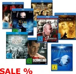 Blurays 1,99€ z.B Robin Hood, 2,99€ z.B. Wrath of Cain, Merlin bei Legendenmovies Shop