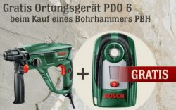 Bosch Aktion: gratis Ortungsgerät  zum Bohrhammer + Ostergewinnspiel