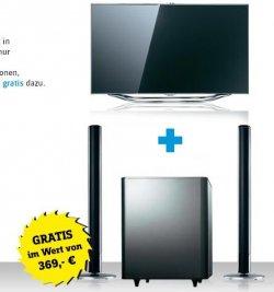 Conrad.de Aktion: Samsung Smart-TV kaufen + gratis Samsung Surround System dazu