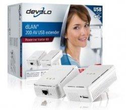 Devolo dLAN 200 AV USB extender Starter Kit (Netzwerk aus der Steckdose) für nur 49€ @Amazon