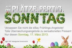 eBay Osterbescherung – viele Deals mit bis zu 70% Rabatt – nur am Sonntag (17.3) von 8-24 Uhr