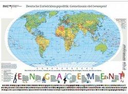 farbige Weltkarte 1,38m x 0,98m kostenkos beim BMZ bestellen