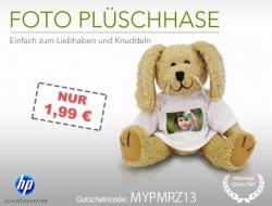 Fotoplüschhase für 6,94€ statt 16,94€ inkl. Versand