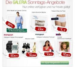 Galeria Kaufhof Sonntagsangebot | Bis 10€ reduziert / oder 20% Rabatt auf Herren Chinos