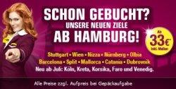 Germanwings | Neue Strecken – neue Ziele – neue Angebote *ab Hamburg ab 33€*