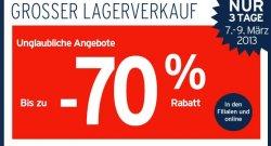 Großer Karstadt-Sport Lagerverkauf – bis zu 70% Rabatt! – nur vom 7 – 9.3