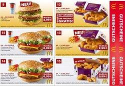McDonalds Gutscheine für den Monat September 2013, gültig ab 9.9 zum Ausdrucken
