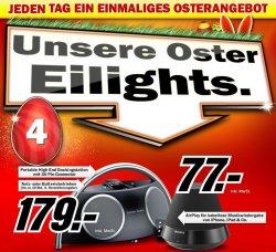 Große Osteraktion bei Media Markt  – jeden Tag ein neues Angebot, aktuell: Harman-Kardon Go + Play II für nur 179  Euro!