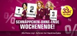 One-Way-Flüge für 33€ mit Germanwings bis Sonntag 23:59 Uhr
