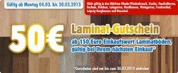 [LOKAL] Praktiker 50€ Gutschein beim Kauf von Laminatboden ab einem Wert von 150€