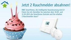 RWE SmartHome Geburtstagsaktion – Zentrale inkl. gratis 2 Rauchmelder im Wert von 90€