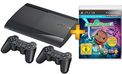 Sony PS3 Super Slim 12GB + 2 Controllern + Game LittleBigPlanet2 für 199 bei Saturn