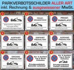 Top Parkverbotschild Singen und Klatschen für 6,49 Euro @ebay