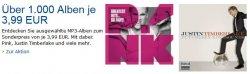 Über 1.000 MP3 Music-Alben für je 3,99 EUR @Amazon