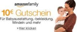 10 Euro Gutschein auf Amazon-Family Produkte, 50 Euro MBW, Anmeldung erforderlich