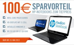 100 € Sparvorteil: HP Notebooks zum Tiefpreis @Cyberport