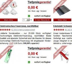 13 Gratisartikel bei Druckerzubehoer.de: Reisestecker-Set, Schweizer Messer, 50 Melitta Filterpads, u.v.m.
