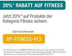 20% Rabatt auf Fitness-Artikel @RunnersPoint.de