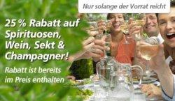 25% Rabatt auf Genussmittel, Spirituosen, Wein, Sekt & Champanger @Real-online