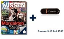 3 Ausgabe Hörzu Wissen + 32GB USB-Stick von Transcend für nur 7€ (oder andere Prämien)