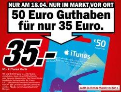 50€ iTunes Guthaben für 35€ im Mediamarkt