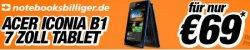 Acer Iconia B1-A71 Tablet für effektiv 69 Euro – für 119 Euro kaufen und 50 Euro Gutschein dazu bei notebooksbilliger.de