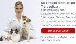Aktion Tiergesundheit – gratis 20€ Gutschein für nächsten Tierarztbesuch