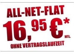 All-Net Flat OHNE Vertragslaufzeit für nur 16,95 Euro @mobildiscounter.de