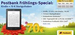 Amazon Kindl eBook-Reader + 70€ Startguthaben bei Abschluss eines Postbank Girokontos