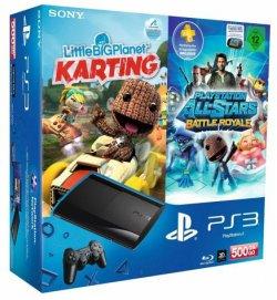 Amazon – Playstation 3 Super Slim 500GB mit Dualshock 3 Wireless Controller und 2 Spielen für 249€ (statt 331€)