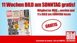 Bild am Sonntag 11x komplett kostenlos @magclub.de