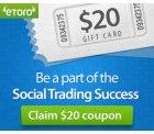 Bis zu 85$ (65€) für die Erstanmeldung beim Social Investment Broker eToro (ohne Nutzungszwang)