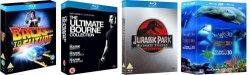 Bluray Trilogien günstig z.B. Zurück in die Zukunft 11€, Bourne Collection 12€, Jurassic Park 13€ @zavvi