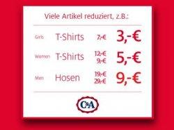 C&A Rabatte bis 70% im Midseason Sale online und in Filialen + 10% bei Newsletteanmeldung