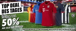 Fan Shop Aktion – Mindestens 50% auf alle Trikots bei 11teamsports.de