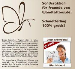 Gratis Wandtattoo Schmetterling für ein like bei Wandtattoo.net