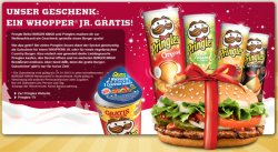 Gratis Whopper Jr. bei Bürger King – je 1 Gutschein in Priggles Dose