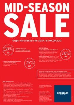 Großer Vorteilskauf mit bis zu 20% Rabatt oder 10€ Gutschein für Karstadt.de (MBW 60€)