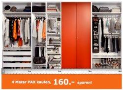 [Lokal] Ikea Pax Kleiderschrank 40€ je Meter sparen für Family Mitglied