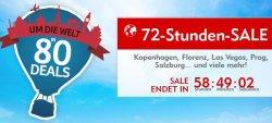 Um die Welt in 80 Deals – 72 Stunden Reise-Sale bei Expedia.de
