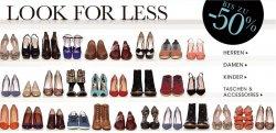 Look for Less Aktion @javari – bis zu 50% auf Schuhe für Damen, Herren und Kids