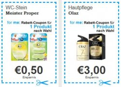 Rabattcoupons zum Ausdrucken für Drogeriewaren @for-me-online.de