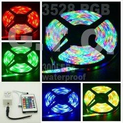 RGB LED 5M Strip Streifen mit Remote IR Fernbedienung im Set für 12,52€ inkl. VSK @eBay