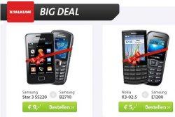 Sparhandy.de BigDeal: 2 Handys mit Gratis-Duoverträgen ab 5€ z.B.Samsung Ace S5830i + Samsung E1200 zusammen für 29€ statt 130€