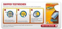 Swiffer Testwochen: Swiffer Staubmagnet kostenlos dank Cashback