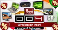 004.de, Schnäppchen, tolle Angebote zum 10 jährigen Bestehen z.B.: TomTom Navi für 94,95 Euro