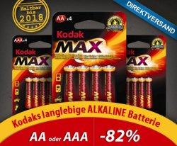 100 Batterien von Kodak für nur 26,95€ (ca. 27 Cent pro Batterie)! @DailyDeal