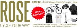 10 Euro Gutschein für Fahrrad-Fans für Rose.de (MBW 50 Euro)