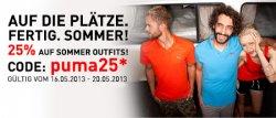 25% Rabatt auf Puma Sommer Outfits Nur vom 16.05-20.05